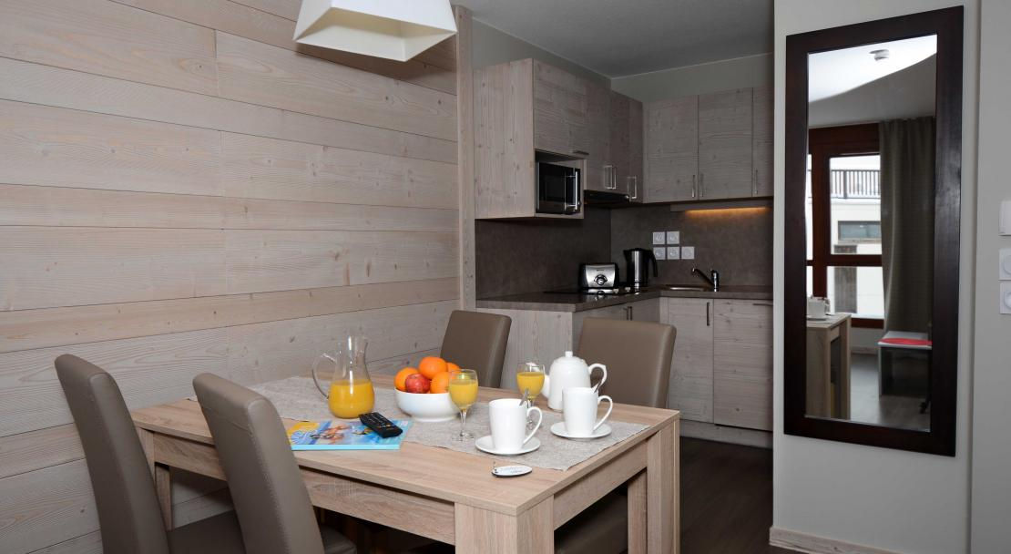 Residence Le Panoramic, Flaine - Kitchen/ Diner