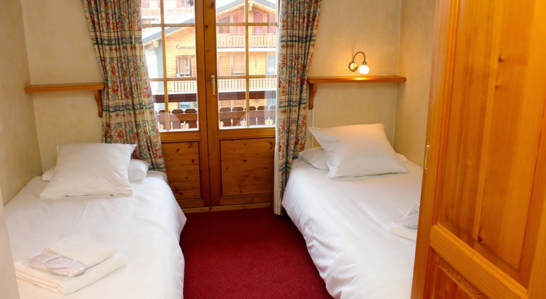 Hotel Montpelier Verbier Apartment twin beds