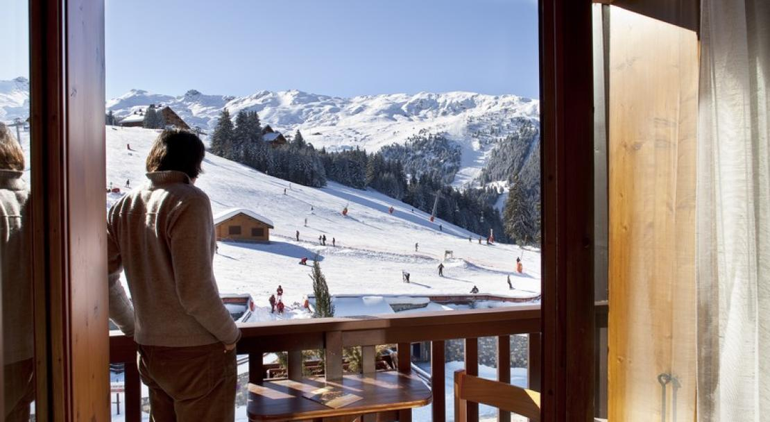 Le Grand Chalet des Pistes Meribel Balcony