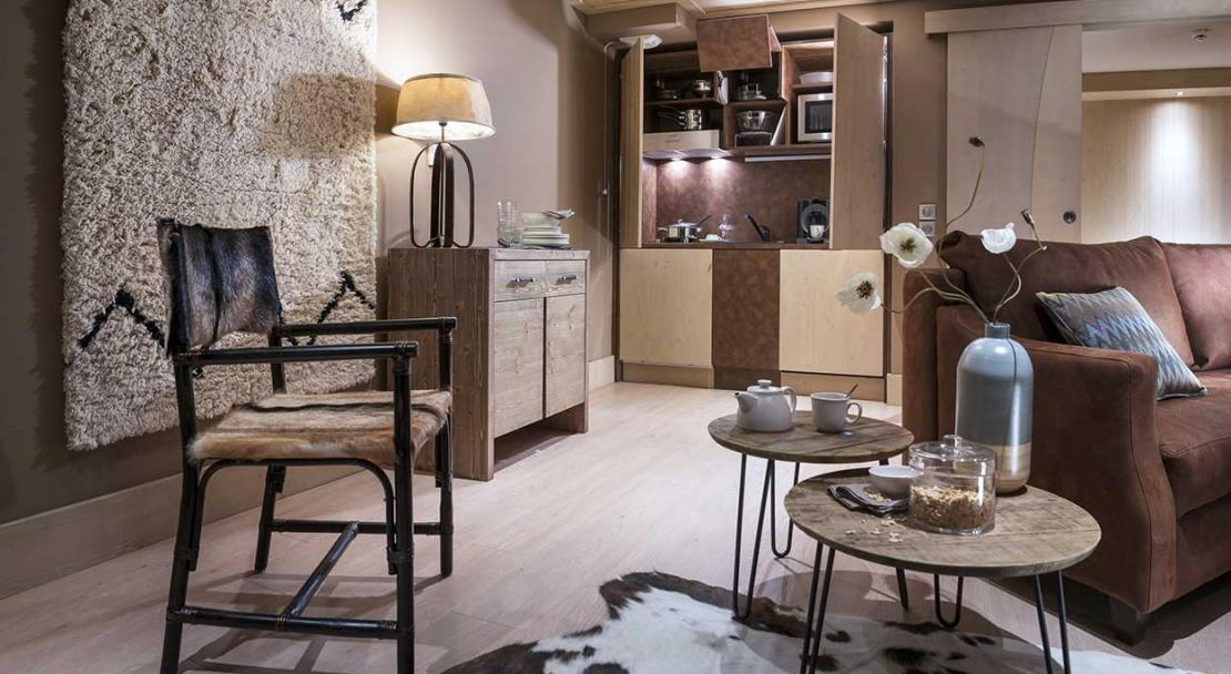 Apartment Le Taos - Kitchenette; Copyright: Credit Studio Bergoend