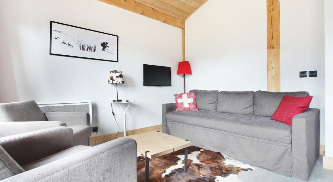 Living room at Les Fermes de Chatel Odalys; Copyright: Odalys