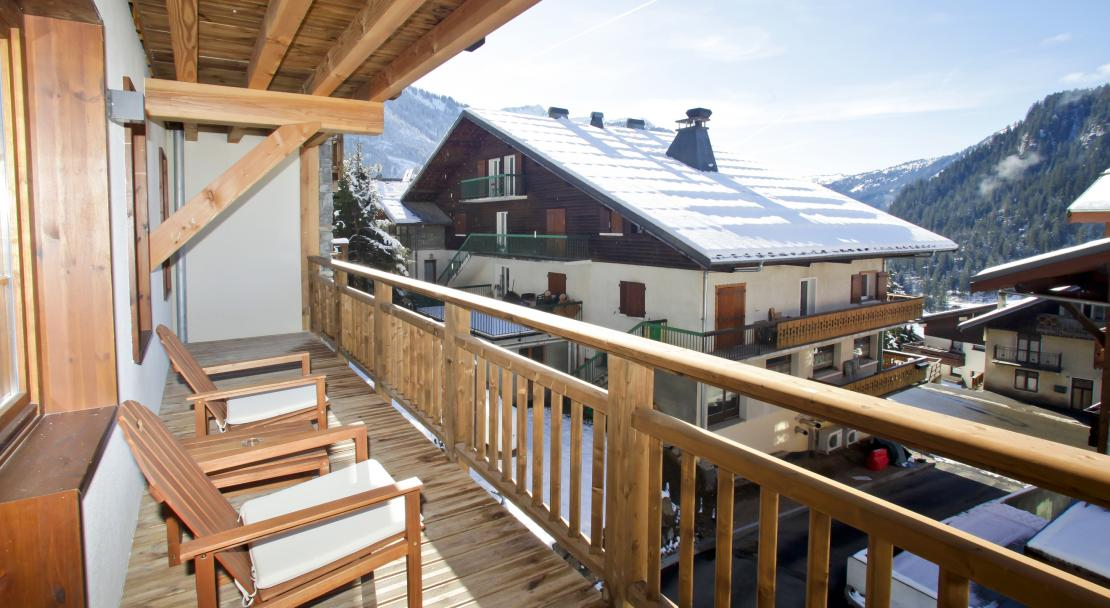 Balcony at Les Fermes de Chatel Odalys; Copyright: Odalys