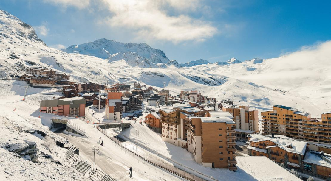 View from Chalets de Rosael - Val Thorens; Copyright: Temmos