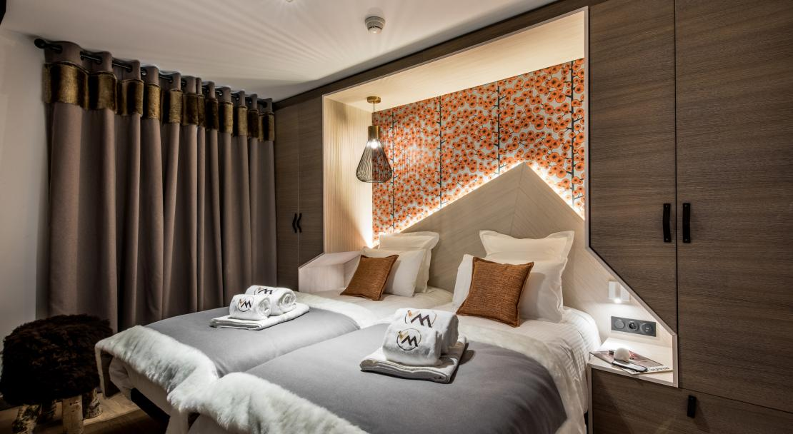 Bedroom at Chalet Skadi; Copyright: Laurie Verdier