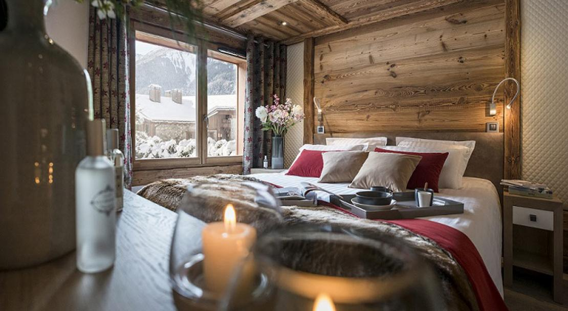 A bedroom in Le Cristal de Jade Chamonix
