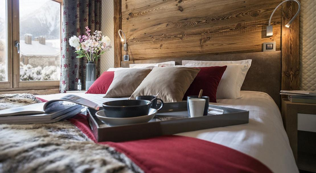 Breakfast in bed at Le Cristal de Jade Chamonix