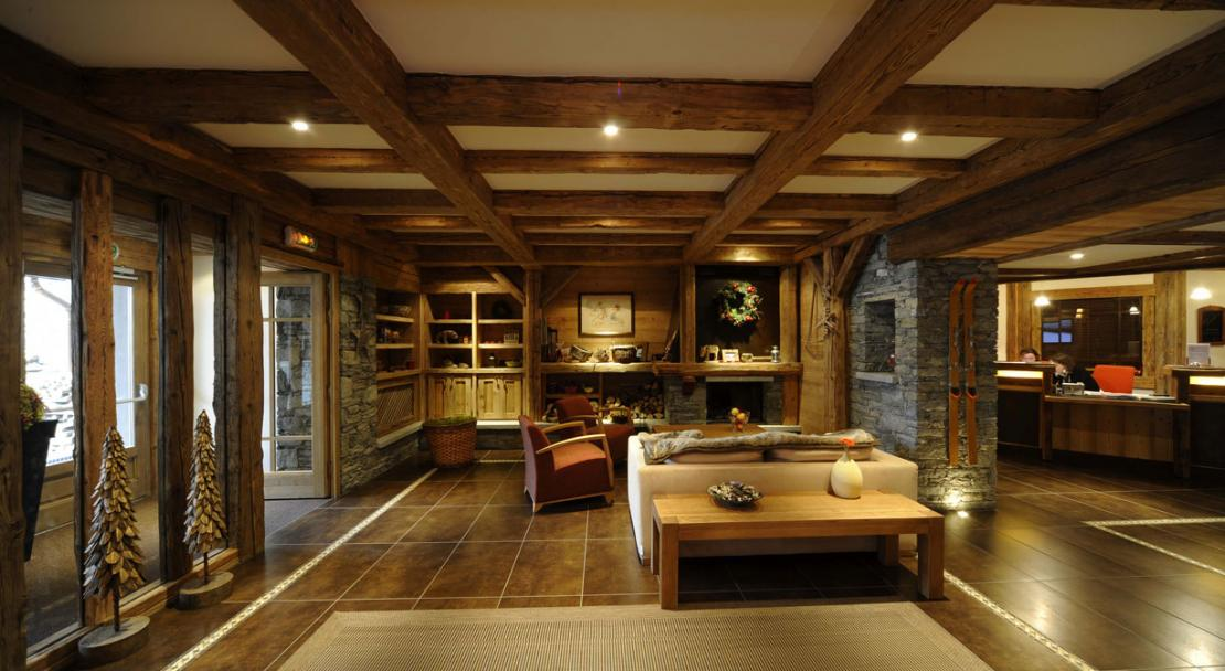 Lounge with Fire Place in Residence Le Ruitor Sainte Foy