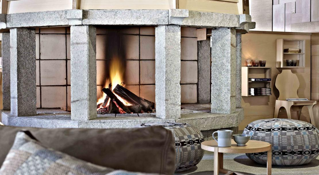 Altapura Val Thorens - Fireplace