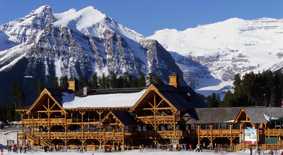 Hit up Lake Louise first thing in the morning; Copyright: Lake Louise Ski Resort