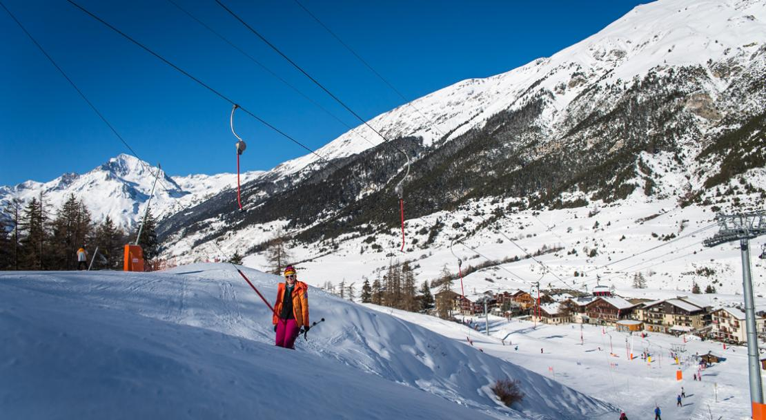 Ski runs in Val Cenis; Copyright: Alban Pernet