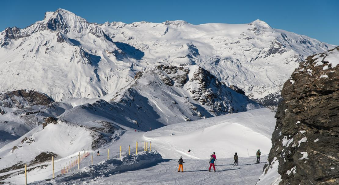 Skiing in Val Cenis; Copyright: Alban Pernet
