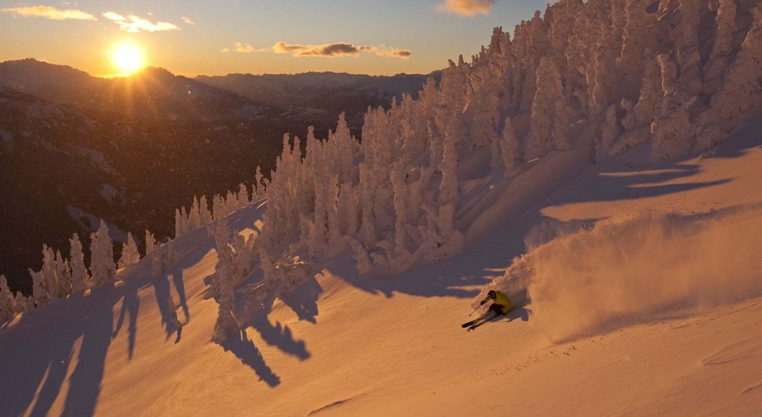 Whistler ski resort at sunset