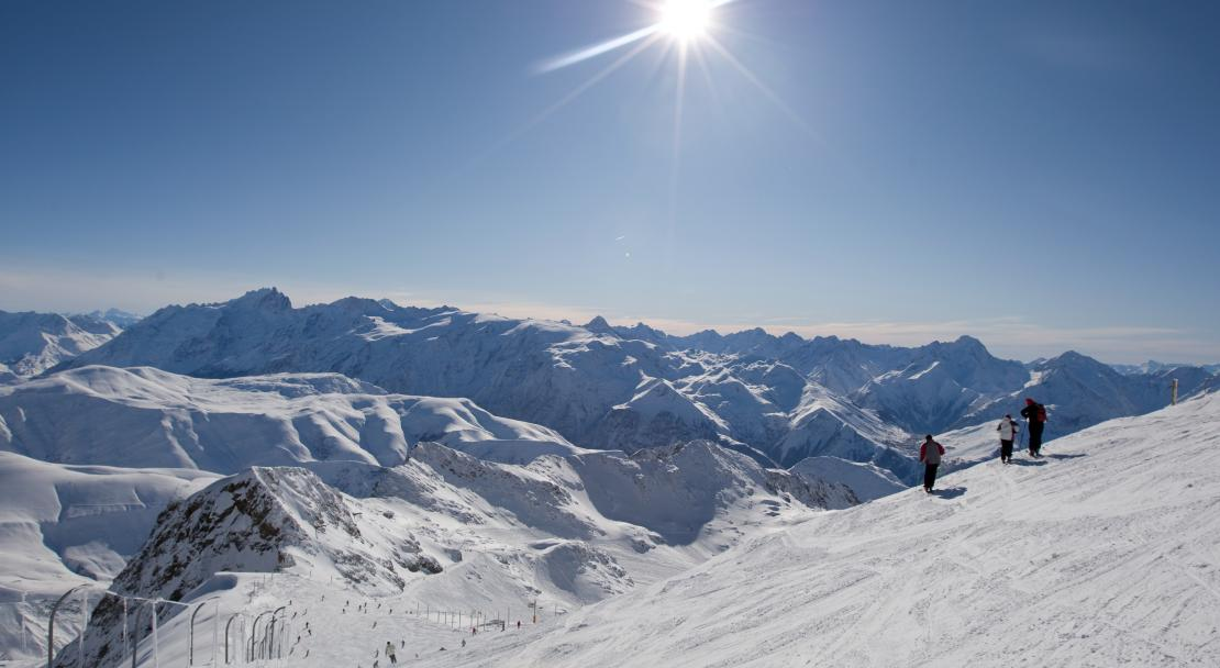 Beautiful pistes in Alpe d'Huez