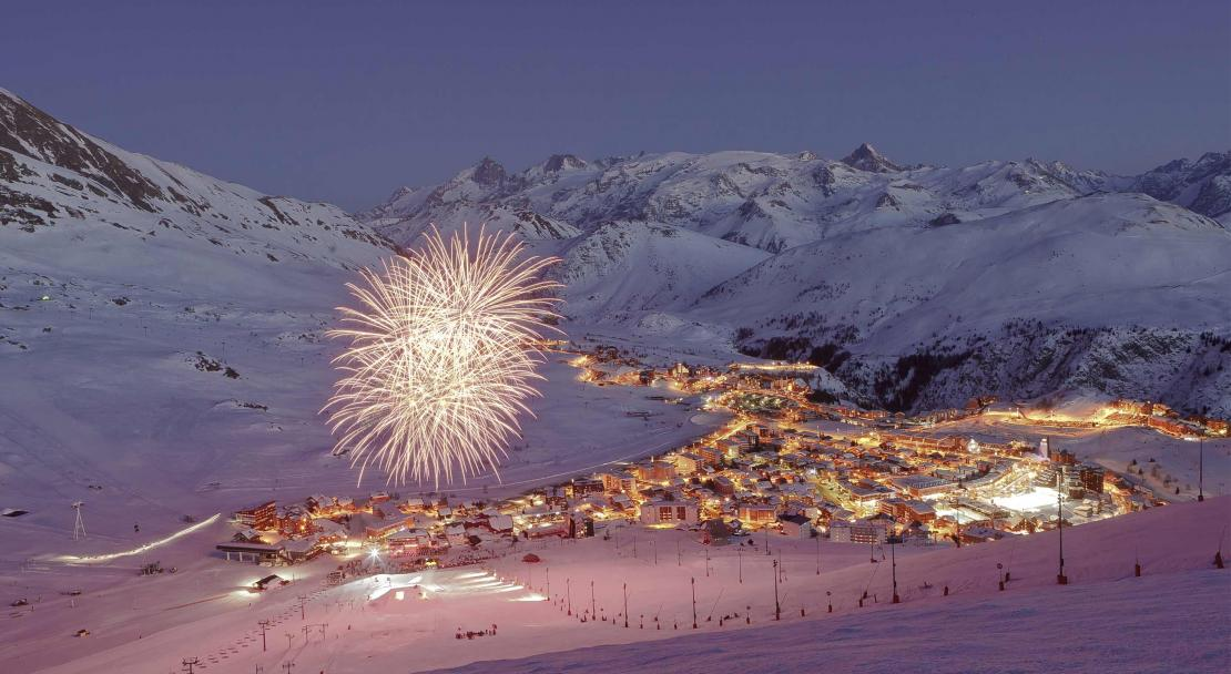 Evening slopes in Alpe d'Huez