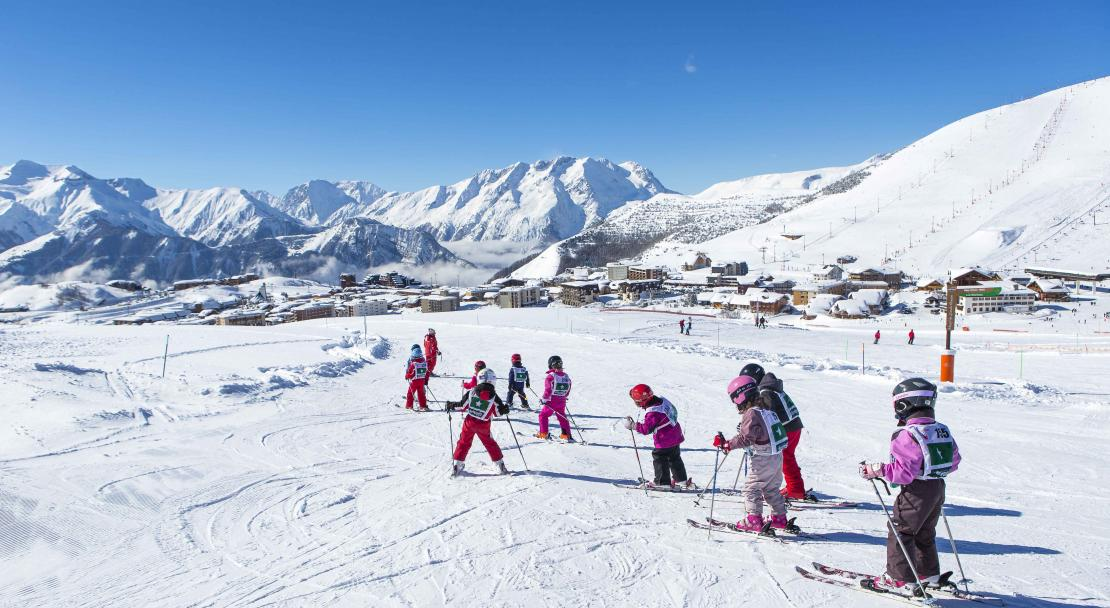 Learning to Ski in Alpe d'Huez