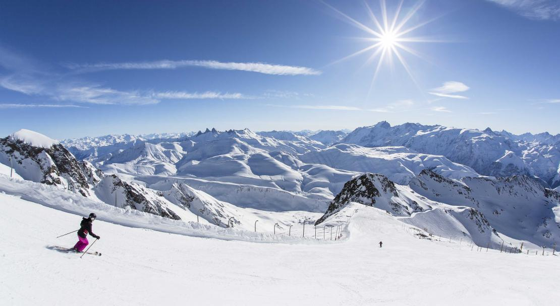 Sunny Slopes of Alpe d'Huez
