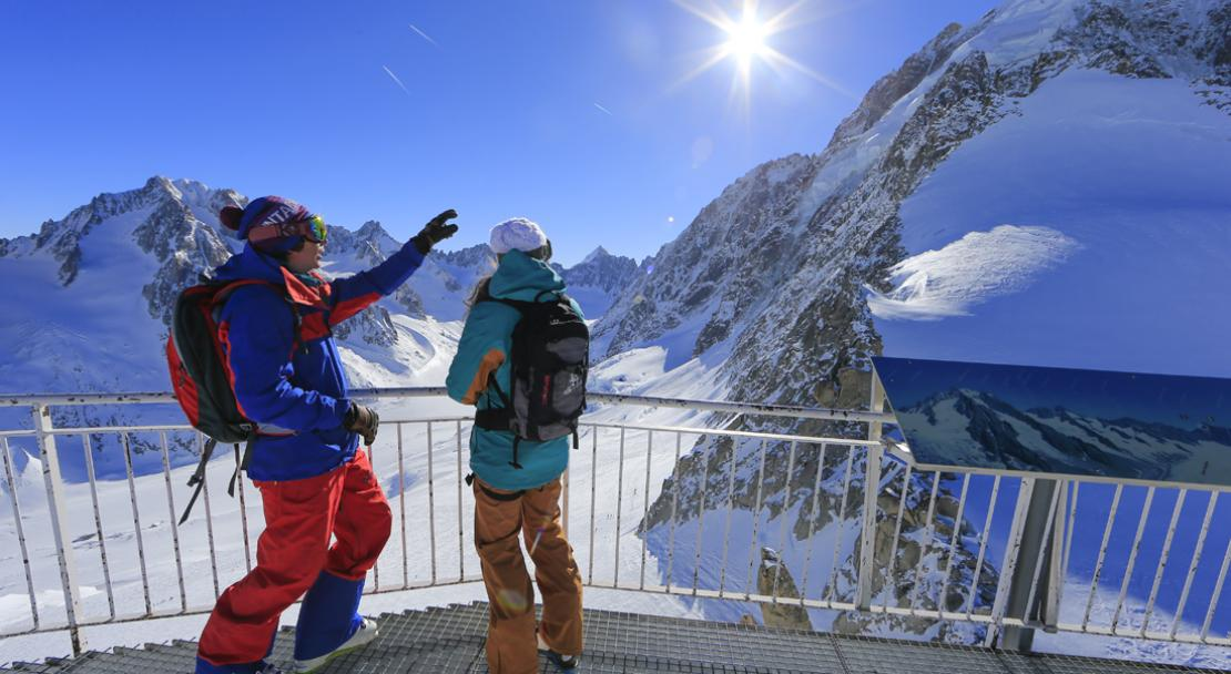 Amazing views over Les Grands Montets; Copyright: Monica Dalmasso