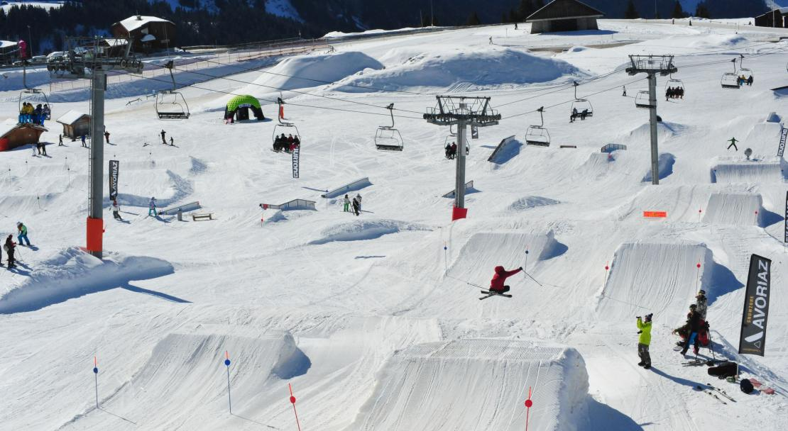 Terrain Park in Avoriaz, France