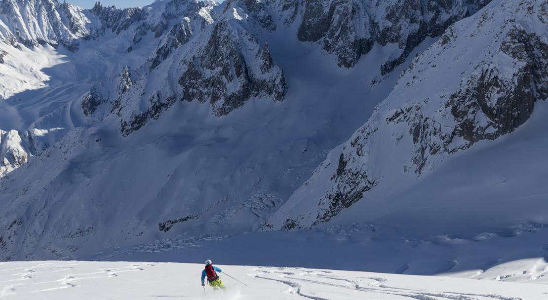 Skiing the Vallee Blanche in Chamonix; Copyright: Patrik Lindqvist
