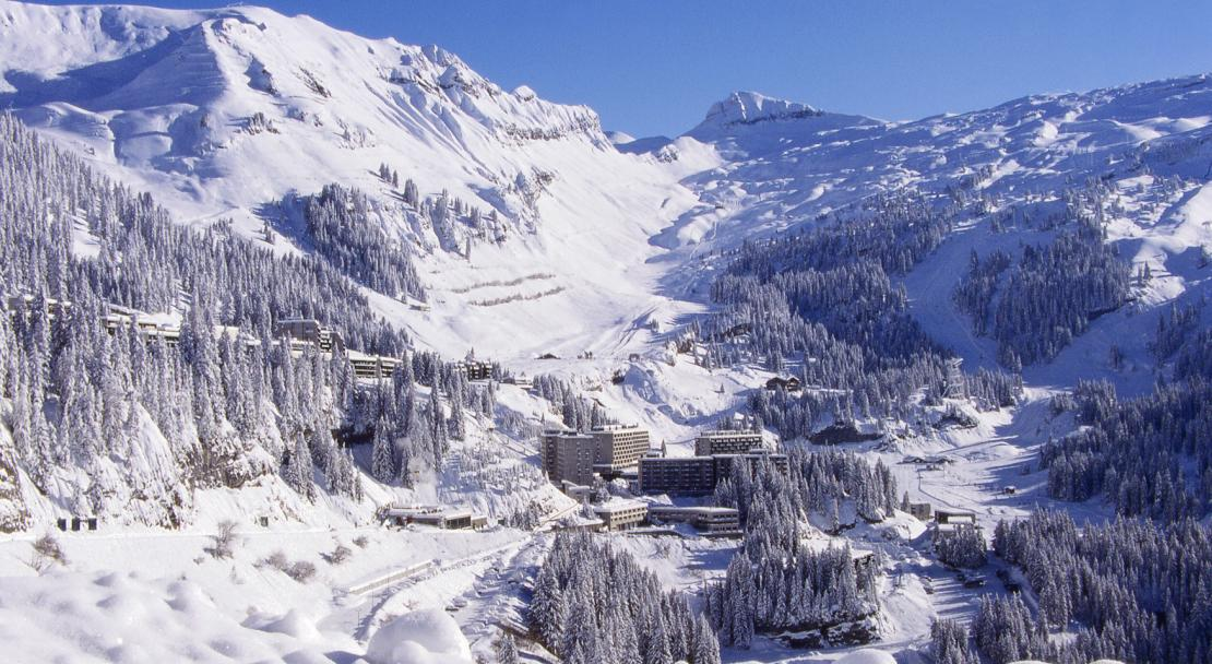 Flaine resort overview; Copyright: Flaine