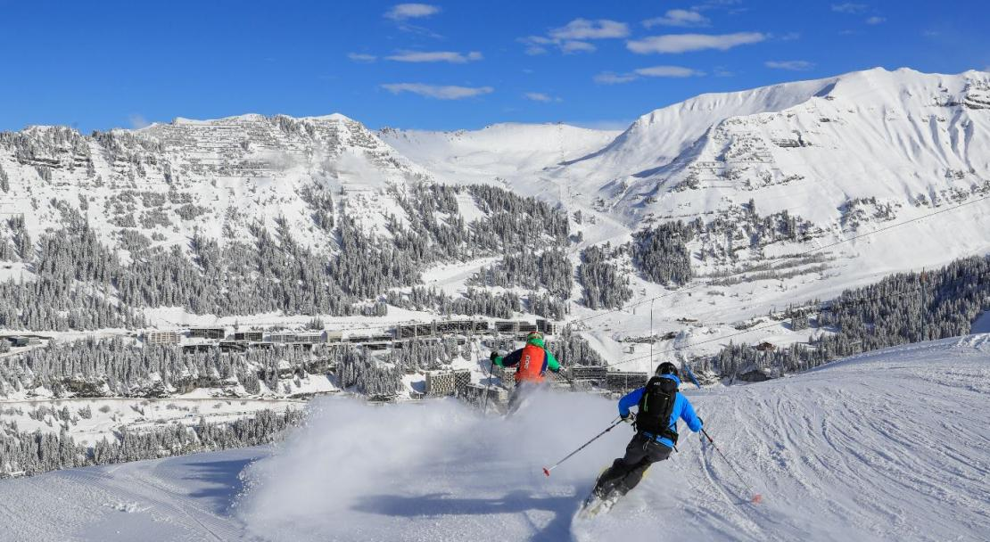 Flaine resort overview; Copyright: Monica Dolmasso