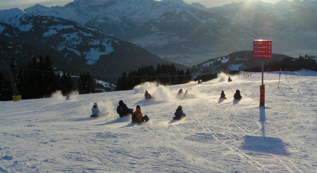 The terrain in Villars is varied and provides plenty for the intermediate skier.