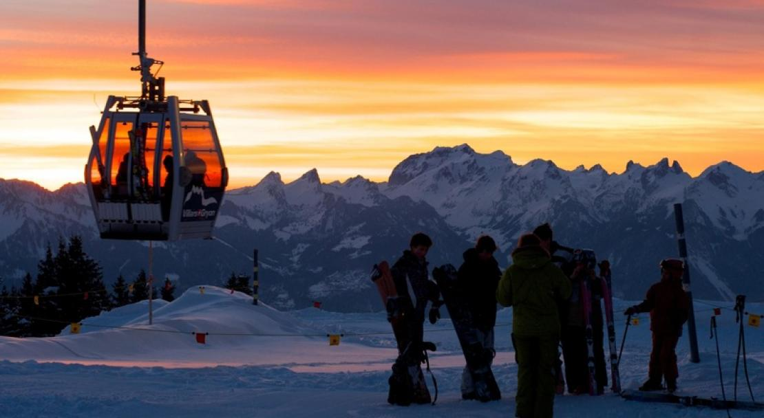 Sunset in Villars