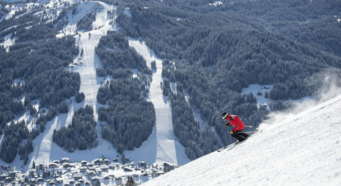 Skiing in Les Gets, France