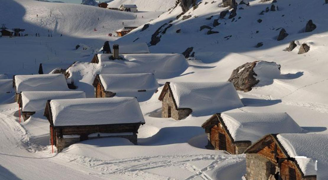 Some picturesque chalets in Leysin