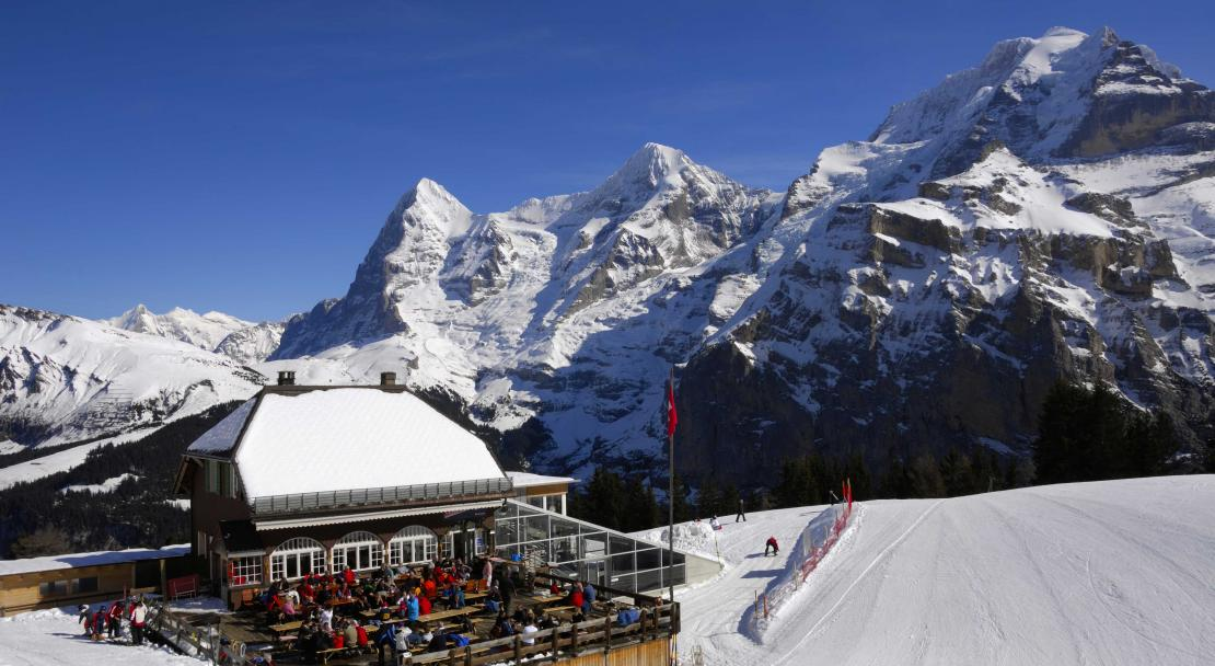 Allmendhubel Restaurant above Mürren