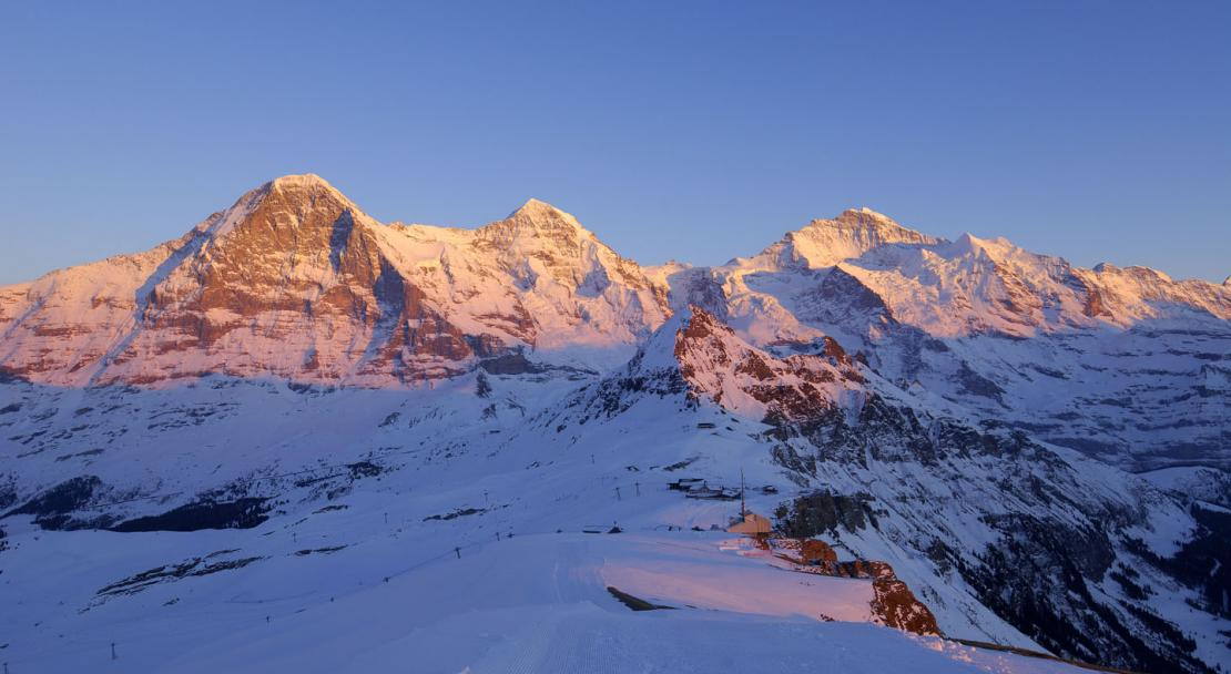 A sunset in Murren, Switzerland