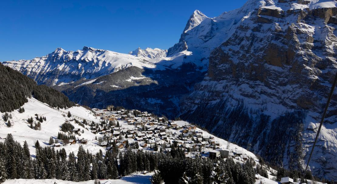 The village of Murren, Switzerland