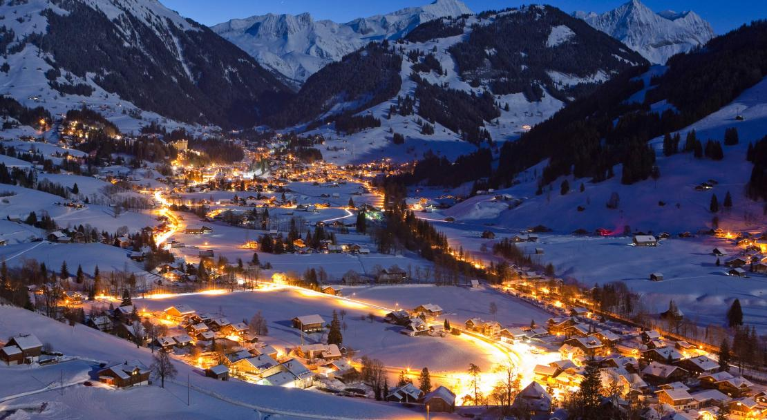 Gstaad at night