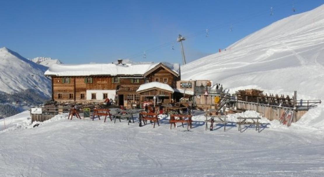 Great mountain restaurants with stunning mountain scenery  in Klosters.