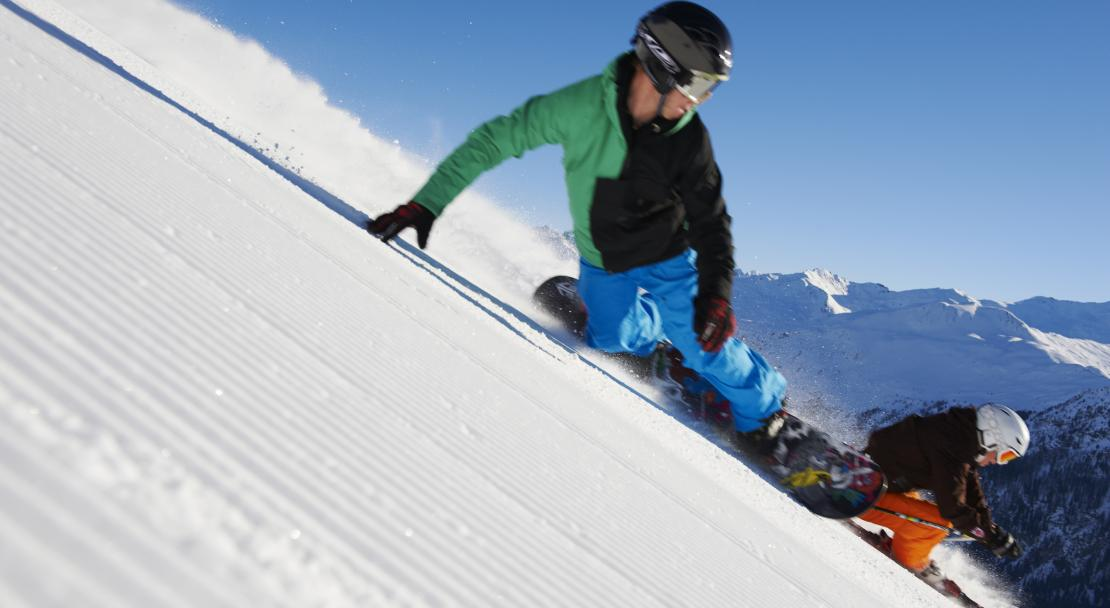 You can ski or snowboard in Klosters; Copyright: Klosters Tourist Orrice