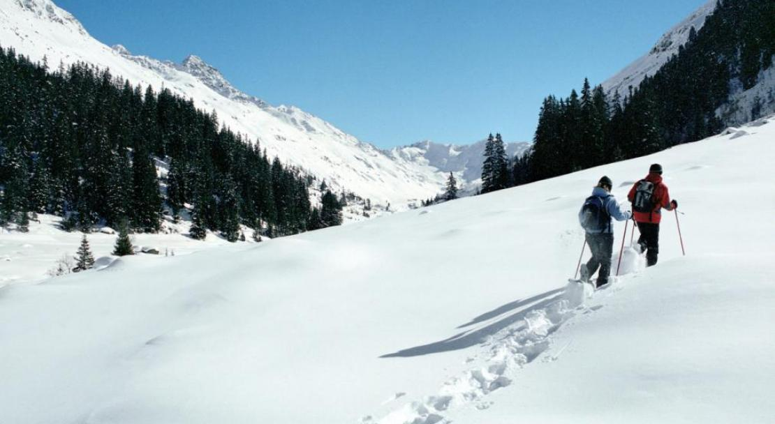 Going for a walk in Klosters; Copyright: Klosters Ski Resort