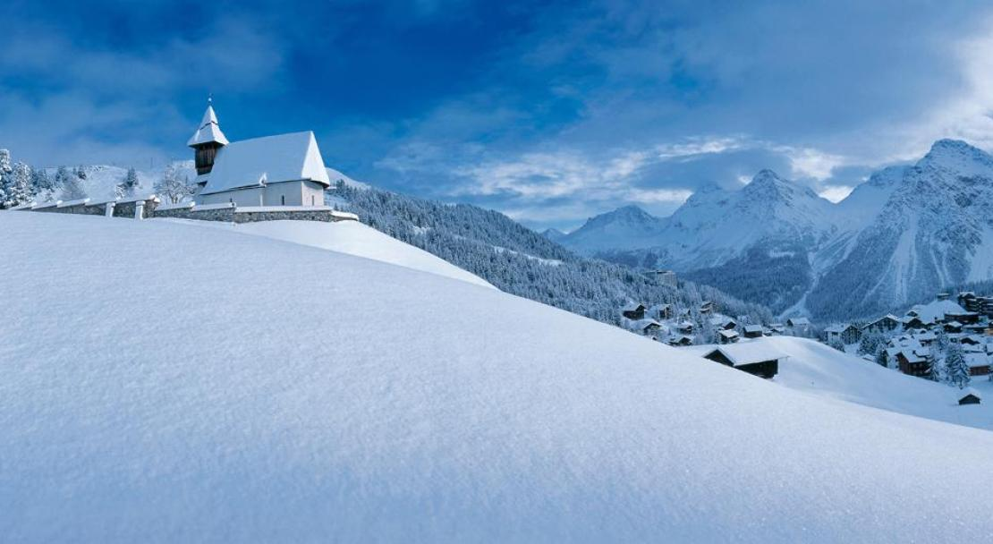 A view of Arosa from afar; Copyright: Arosa Tourist Office
