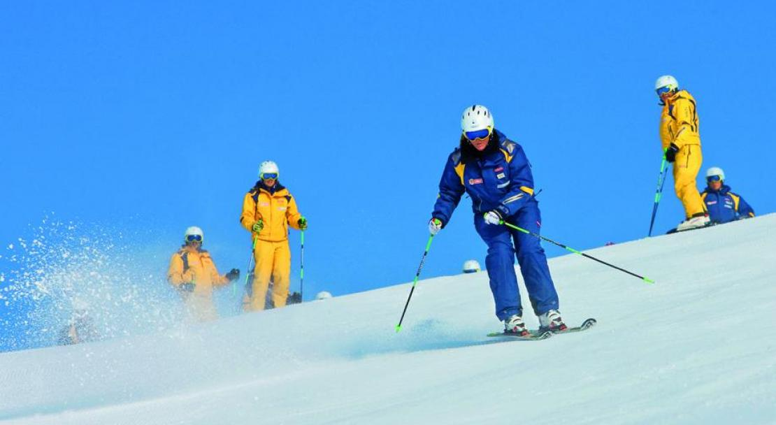 Skiing in Arosa, Switzerland; Copyright: Arosa Tourist Office