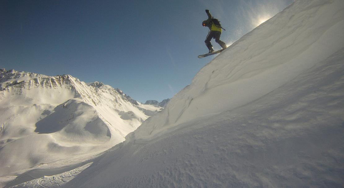 Vallorcine France  city photos : An extreme skiier in Vallorcine, France; Copyright: http://www ...