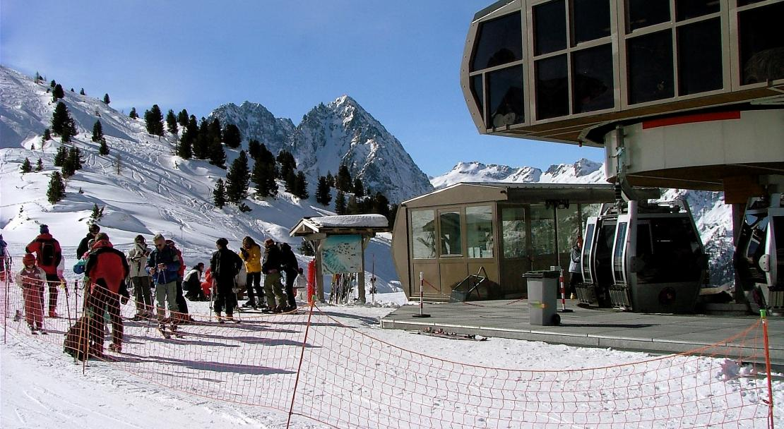 A ski lift in Vallorcine