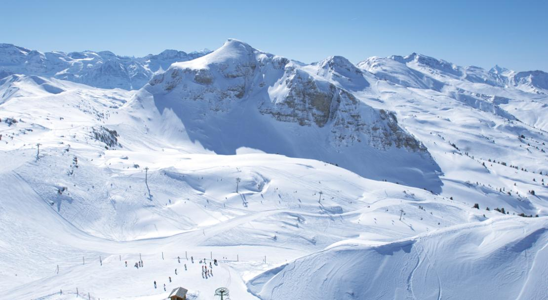 Amazing view over Chatel ski area; Copyright: JF Vuarand