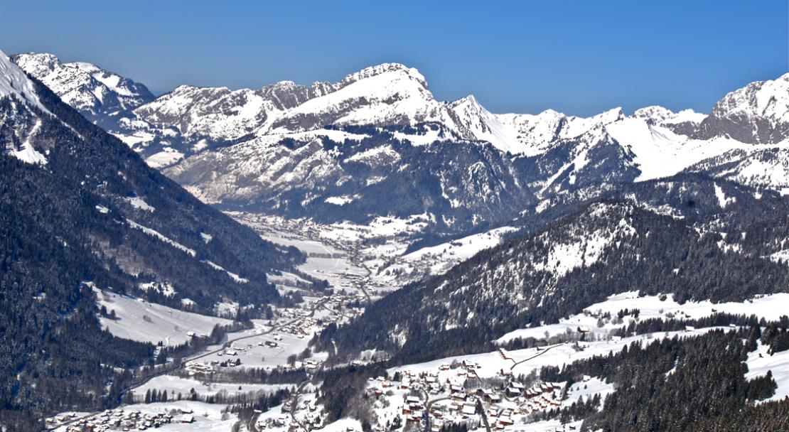 Fantastic view over Chatel; Copyright: JF Vuarand