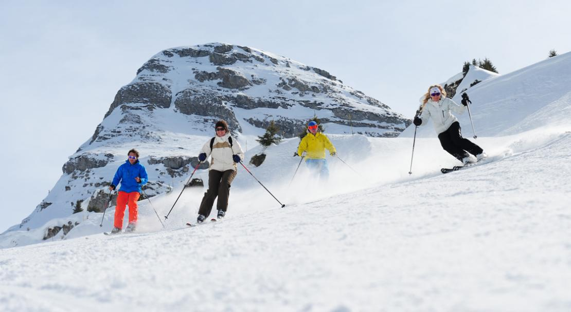 Group of skiers in Chatel; Copyright: Thiebaut