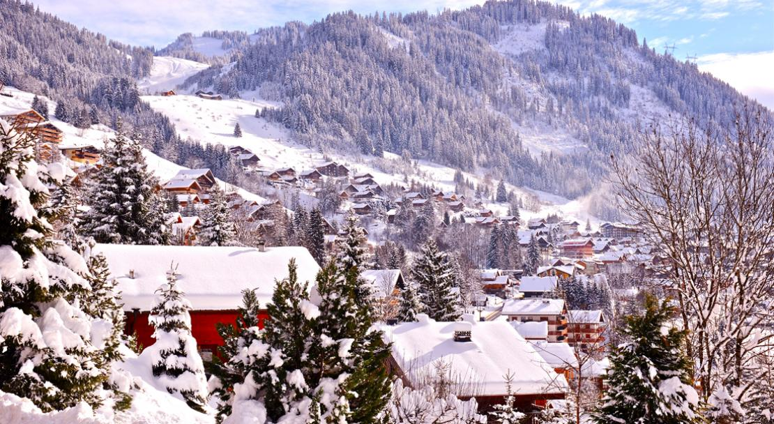 Snowy and pretty Chatel village; Copyright: JF Vuarand