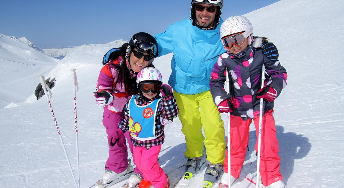 Family in Oz en Oisans, France