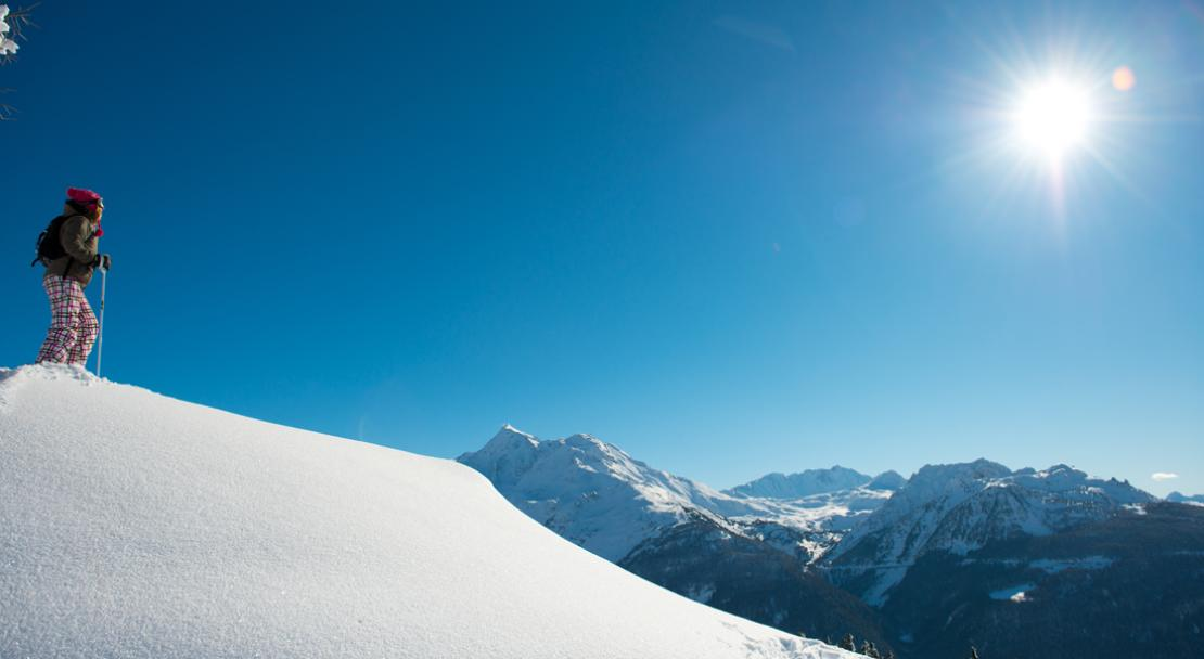 Stunning views from the slopes in La Rosiere; Copyright: Images & Reve
