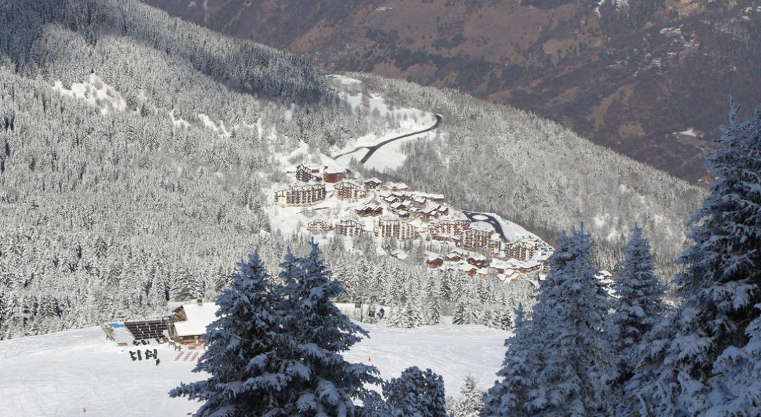 Ariel View of La Tania, France; Copyright: Robin Garnier