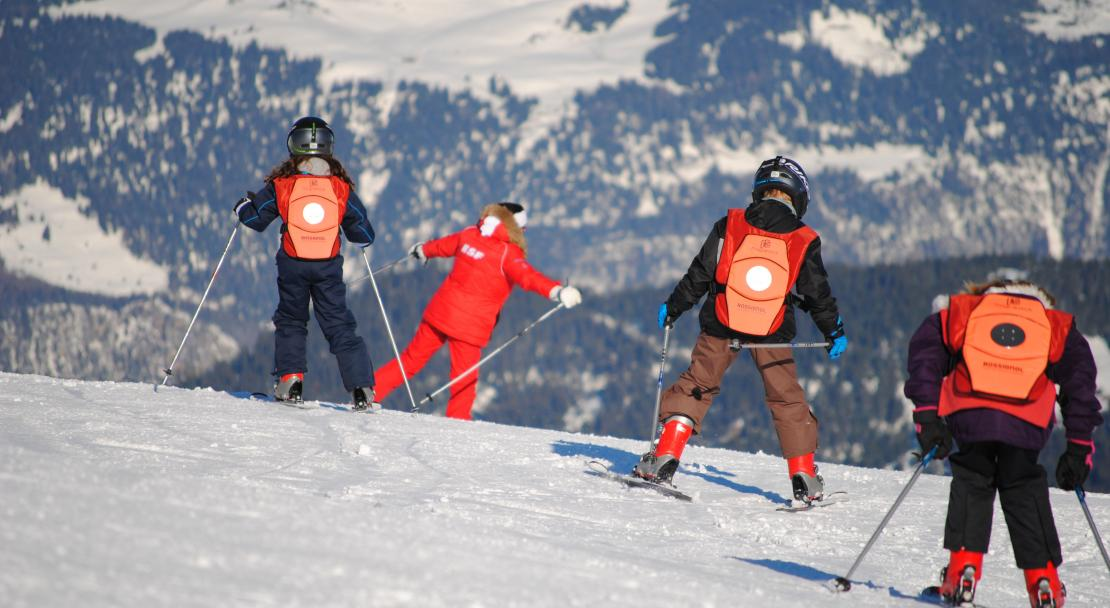 Skiing in La Tania, France,