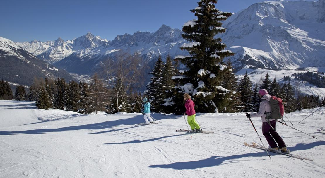Skiing in Les Houches