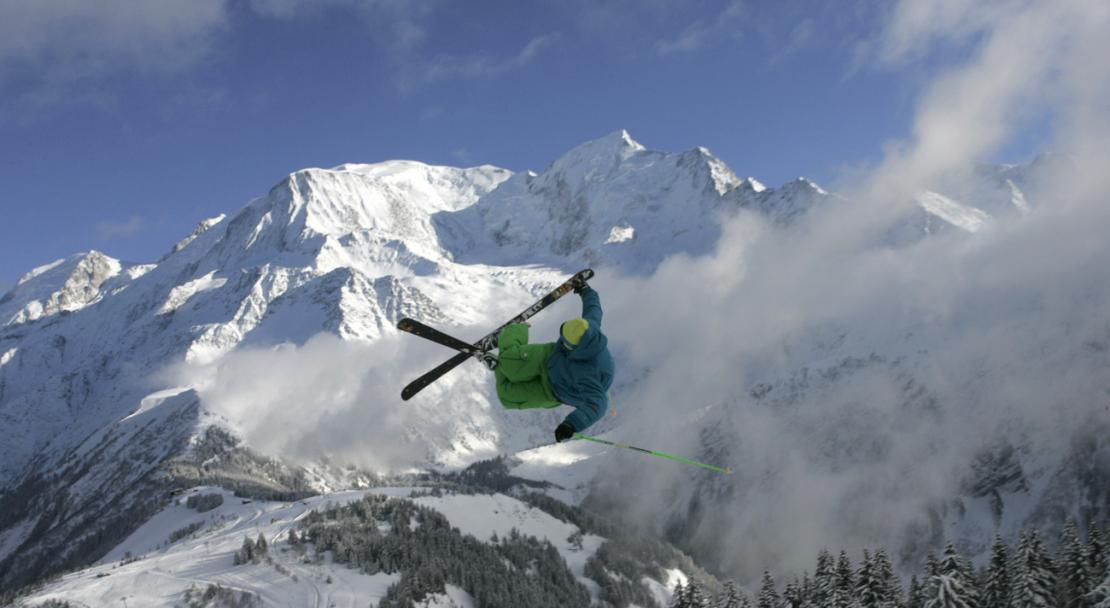 Advanced skiing in Les Houches